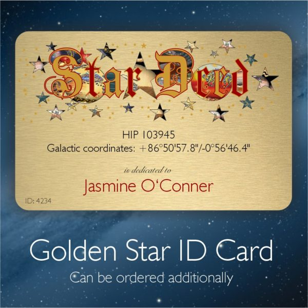 Star ID Card - name a single star
