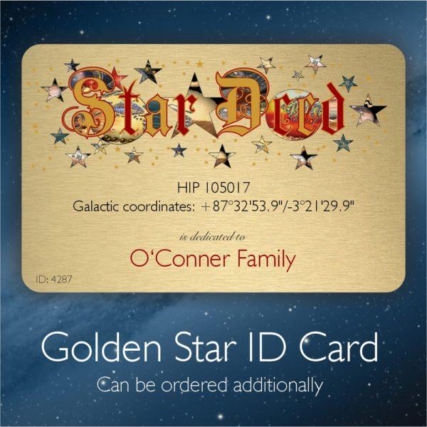 Star ID Card - name a family star