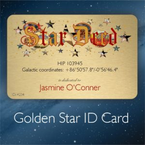 Star ID Card - name a star