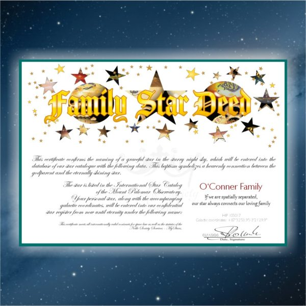 Family Star - name a star